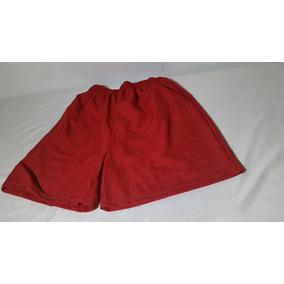 Short Rojo Nuevo Liso Sin Estampados
