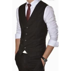 Colete Masculino Slim + Camisa Branca Slim Apronta Entrega