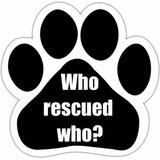 Who Rescued Who? Imán Para Coche Con Huella De Único Diseño