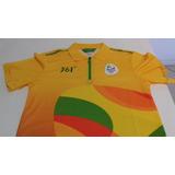 3ce38c0f08 Camisa Voluntarios Olimpiadas Rio 2016 Jogos Olimpicos Ofici