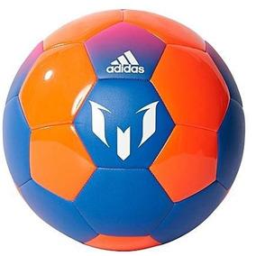 d3dc731ac66ba Balon adidas Soccer Messi Q2 Azul Naranja Original