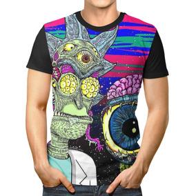 9d6e475064361 Camisa Camiseta 3d Full Rick And Morty Zumbi Unissex Top