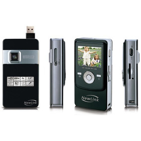 Filmadora New Link Pocket Cam Vga Camera Foto Youtube Vga