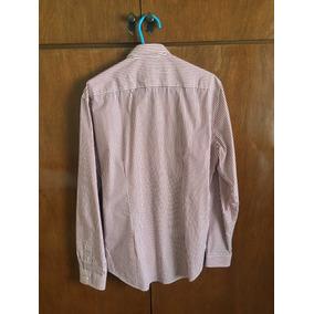 Camisa Hombre Zara -rayas Blancas Y Rojas 7cc343eef43
