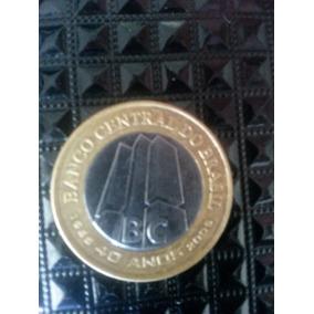2 Moedas 1 Real 2005 Comemorativa 40 Anos Do Banco Central