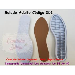 Kit Com 4 Pares De Solados Furados Para Crochê Cód. 251
