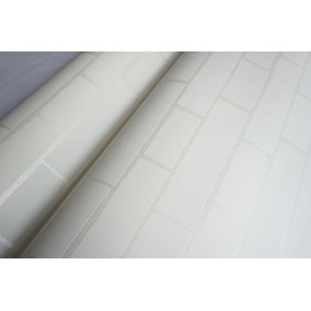 ecf239f23 Papel De Parede Importado Vinílico Textura Tijolo 3d Cinza