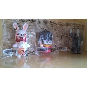 Brinquedos Da Mc Donalds Rabbids Minion Guarda E Frank Ht