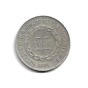 Moeda Brasil 1000 Réis 1861