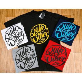 Kit Com 5 Camisas Camisetas Quicksilver - Original - Top c0f8b79e46b3