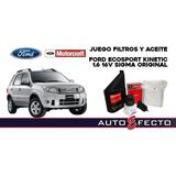Ford Ecosport Kinetic 1.6 16vsigma Juego De Filtros Y Aceite