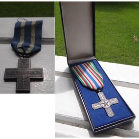 2 Medalhas Italiana Primeira Guerra Mundial Mérito De Guerra