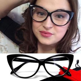 19d04007ec7cb Armação Oculos Gatinho Preto Amarelo - Óculos no Mercado Livre Brasil