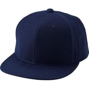 Gorra Snapback Visera Recta Plana Color Azul Marino c82a04c8832