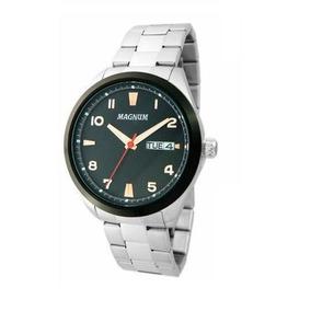 Relógio Magnum Ma34923t Calendario Pulseira Metal