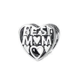 Charm De Plata Best Mom Compatible Con Pandora