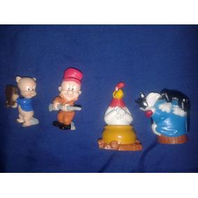 Figuras De Colección La Isla Loca De Los Looney Tunes.