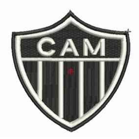 4c5d65e7f74df Patch Bordado Termocolante Time Atlético Mineiro 10 Cm X 8cm
