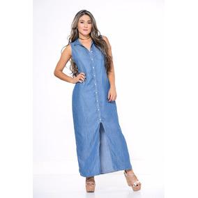 Vestidos Largos De Jeans Chambray - Vestidos de Mujer en Mercado ... 841db24db658