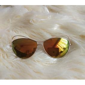Steve Madden Lentes De Sol Cat Eyes Espejeados Amarillos