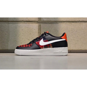 info for 9f924 496ef Nike Air Force 1 Black White Habanero Vuelta Town Cuadrille