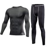 Demola 2pcs Men's Running Fitness Elástico Slim...