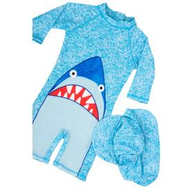 Traje De Baño Niños 2 Pz Tiburón *envio Inmediato*