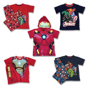 5 Pack Pijamas Y Playeras De Iron Man Avengers Marvel Niños