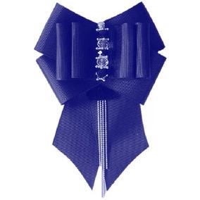 Broche Corbatin Prendedor Bow Brooch Azul Camafeo Piedrada