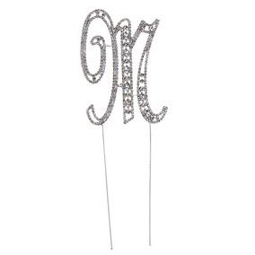 5ded5b73e7 Letra M Alfabeto Diamante Cake Topper Decoración Aniversari