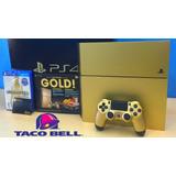 Gold Ps4 Sony Playstation 4 Slim Edición Limitada De 1tb Gol
