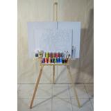 Kit Pintura Oleo, Artistas, Caballete, Bastidor Arte Basico
