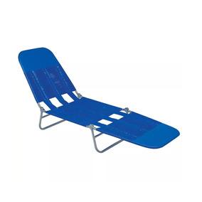 Cadeira Espreguiçadeira Pvc Azul - Mor