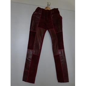 De Mercado Pantalon Pantalones Mujer Cuero Libre Rojo En xqpIT8