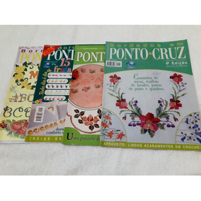 Kit Com 8 Revistas Bordados Em Ponto Cruz + Vagonite