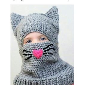 Gorro De Personajes C/cuello A Crochet