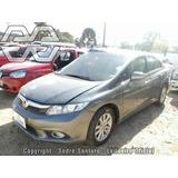 Sucatas Honda Civic Frente Completa Airbag Parachoque Capo..