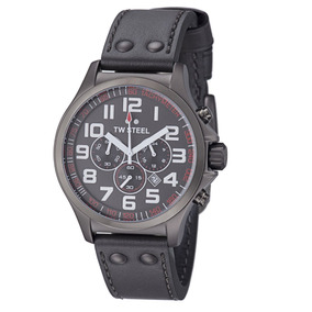 Reloj Caballero Hombre Tw Steel Tw422 Piel Gris Envio Gratis