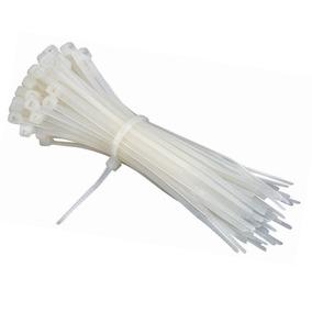 Tirrap Tirraje Amarre Plástico Cable 20 Cm Blanco 100 Und.