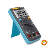 Multimetro Digital Tester Autorango Lcd Luz Buzzer 2000 Cont