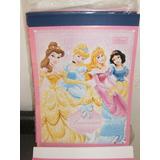 Papel De Carta Princesas C/3 Blocos