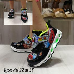 Calzado Zapato Deportivo Luces Niños Cars Moda Colombiana
