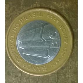 Moeda Bc 40 Anos Banco Central Comemorativa 1 Real