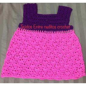Vestido Tejido A Crochet 100% A Mano.