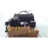 Reflex Nikon D3400 Semi-nueva