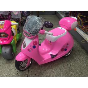 Moto Motocicleta Eléctrica A Batería Juguete Niñas Rosada
