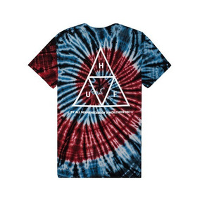 Huf Tie Dye Triple Triangle Spiral Tee No Thrasher