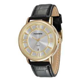 Relógio Mondaine Masculino Pulseira De Couro 34634