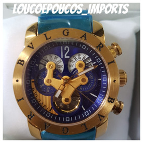 6b768772472 Relogio Bulgary 1 Linha Aco - Relógio Bvlgari Masculino no Mercado ...