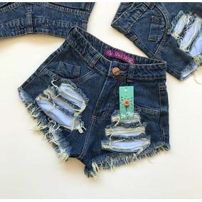 Short Jeans Hot Pant Cintura Alta